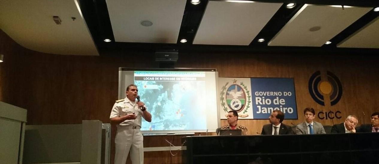 Autoridades apresentam plano de segurança para a Copa Foto: Ana Claudia Costa / Agência O Globo