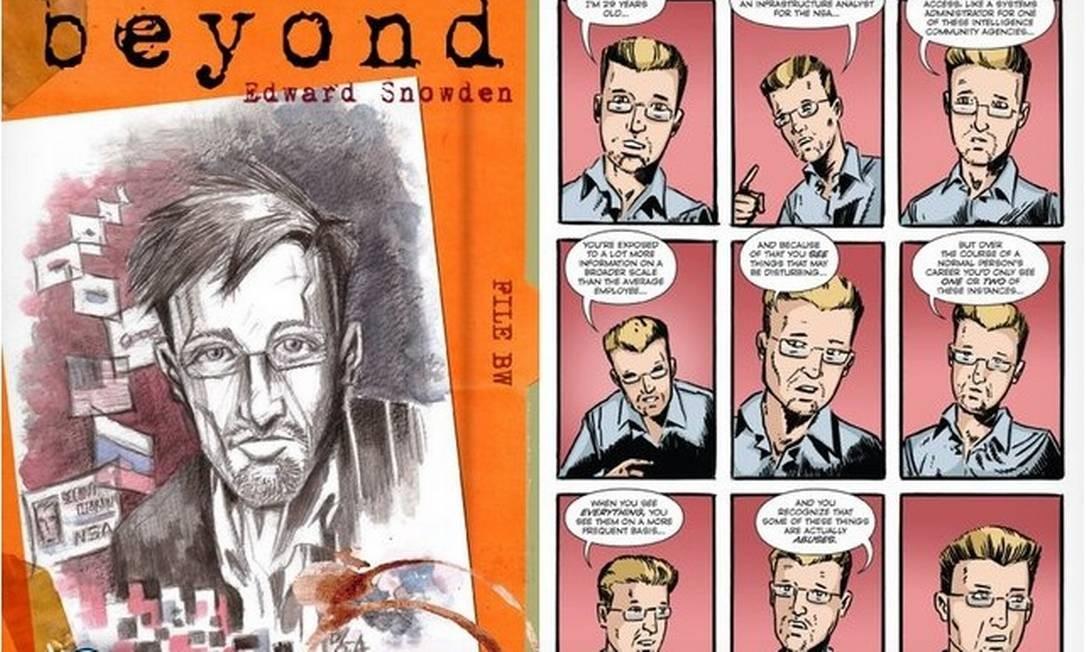O livro conta história de Snowden e questiona porque ele vazou documentos do governo americano Foto: / Reprodução