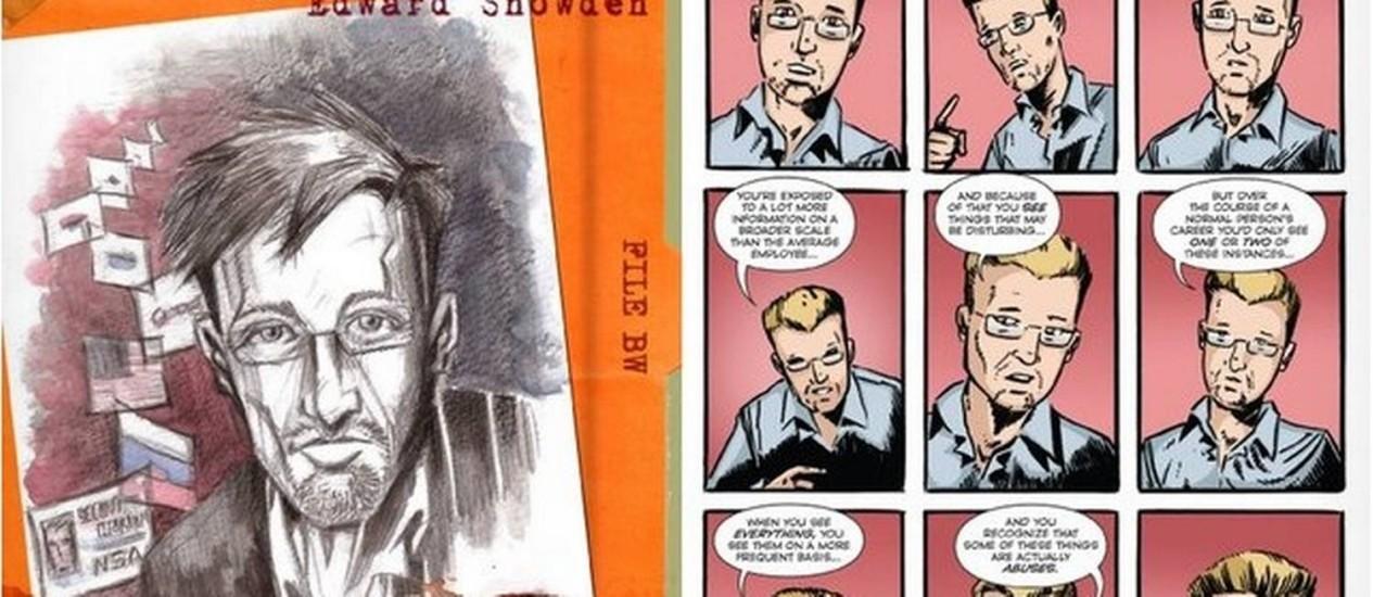 O livro conta história de Snowden e questiona porque ele vazou documentos do governo americano Foto: Reprodução