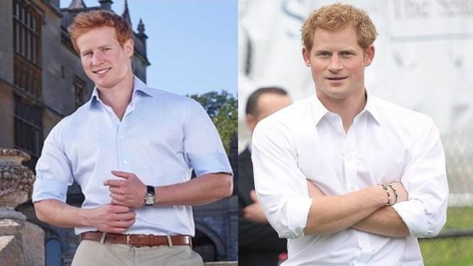 Matthew Hicks e Príncipe Harry: o sósia e o original Foto: Reprodução
