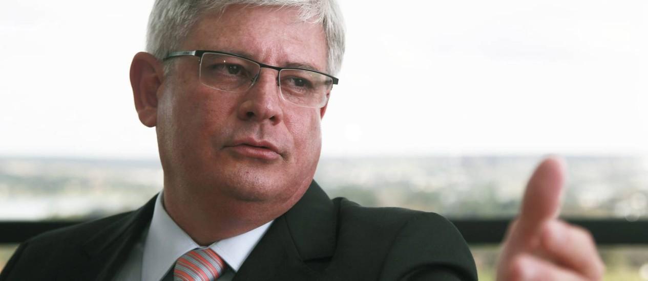 O Procurador Geral da República, Rodrigo Janot, pediu à PF que mantenha investigação em sigilo. Foto: Jorge William / O Globo