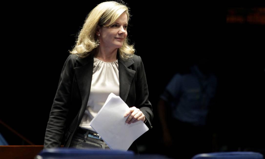 A senadora Gleisi Hoffmann volta atrás com relação à ampliação do Regime Diferenciado de Contratações (RDC). Foto: Ailton de Freitas / Agência O Globo