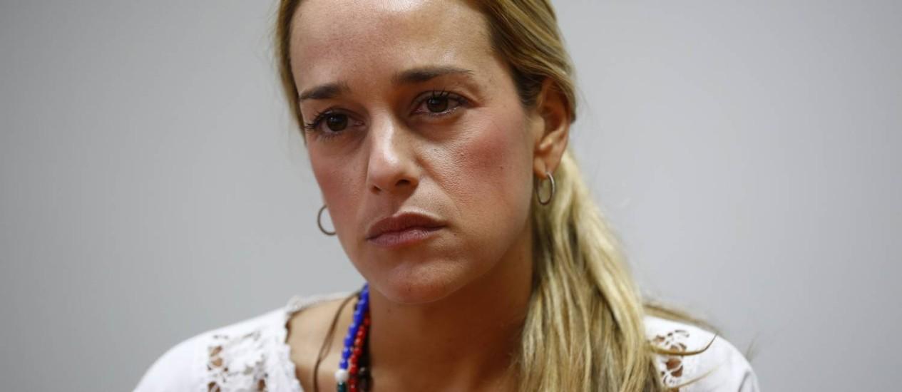Lilian Tintori, mulher de Leopoldo López Foto: JORGE SILVA / REUTERS