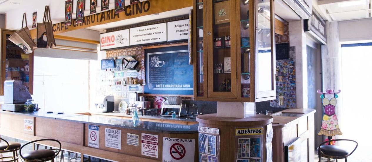 A loja foi inspirada no Café e Charutaria Lolló Foto: Divulgação / Divulgação/TV Globo