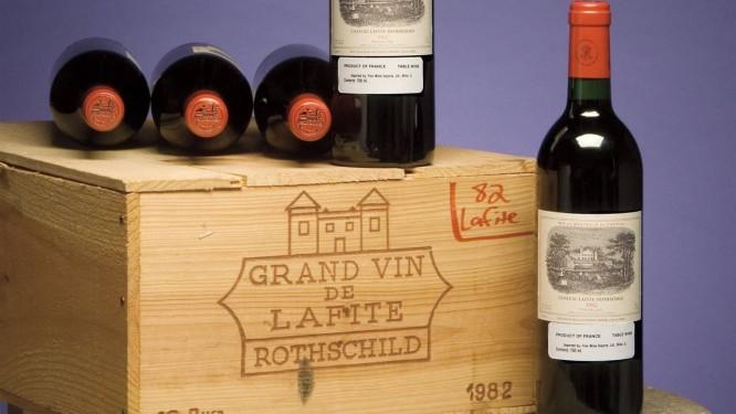 Caixa do famoso 1982 Lafite-Rothschild pode alcançar US$ 30 mil Foto: Zachys