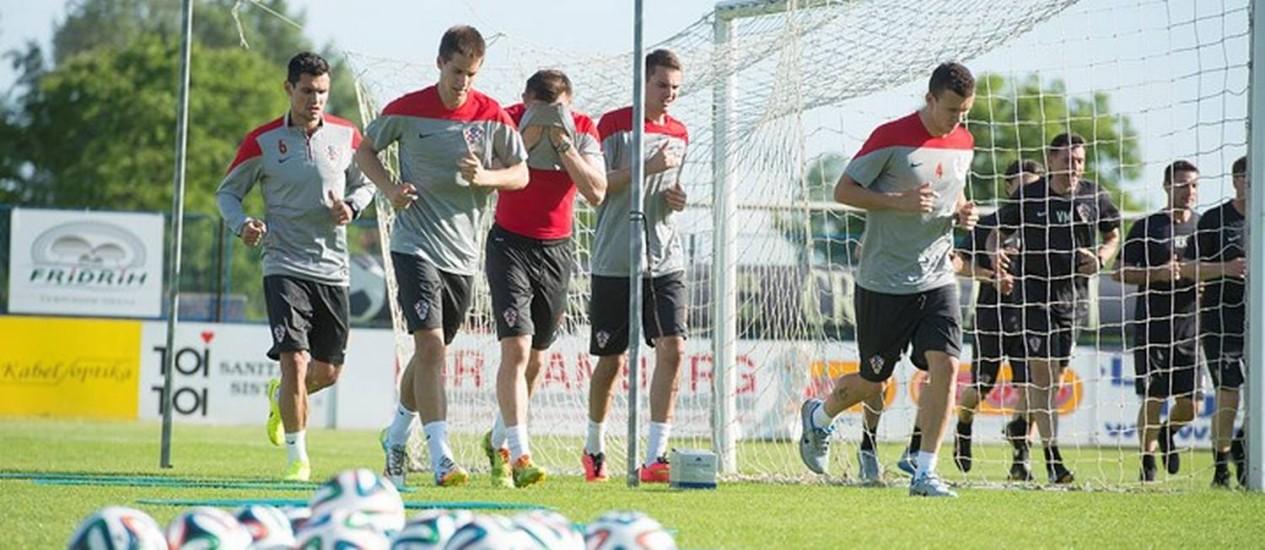 Jogadores da Croácia durante treino Foto: Divulgação / Seleção da Croácia
