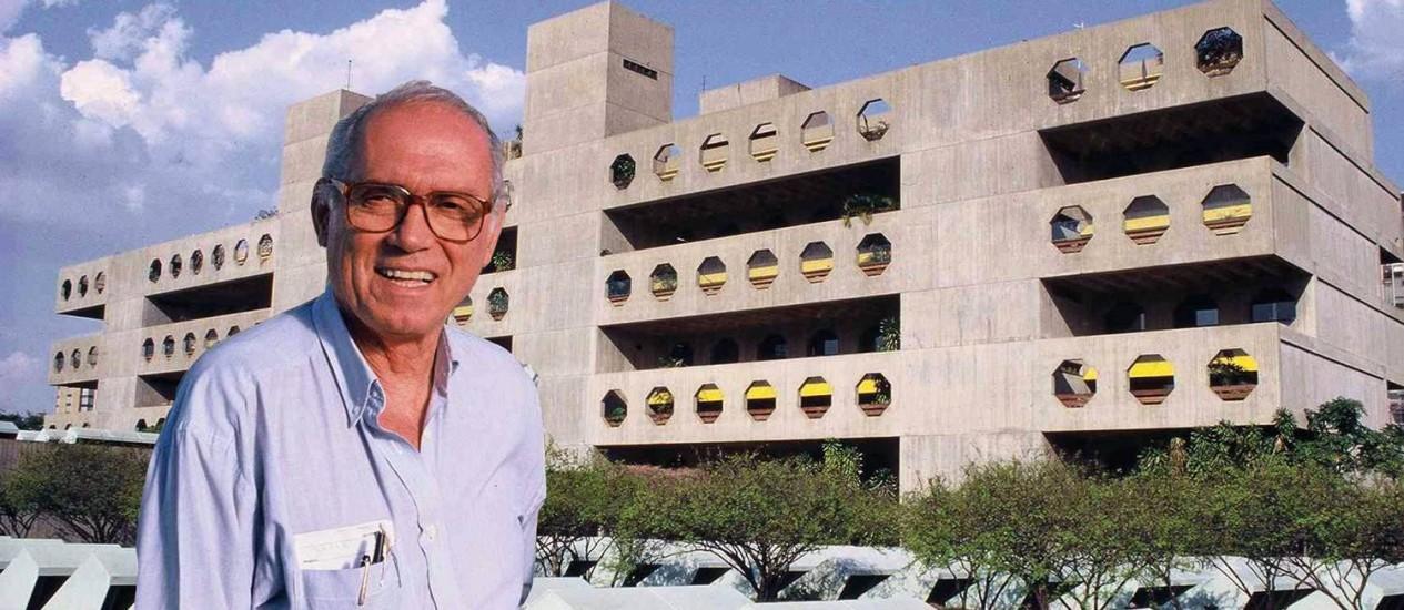 Lelé Filgueiras, um dos artífices de Brasília, morreu aos 82 anos. Ele lutava contra um câncer de próstata Foto: Rede Sarah Brasília / Divulgação