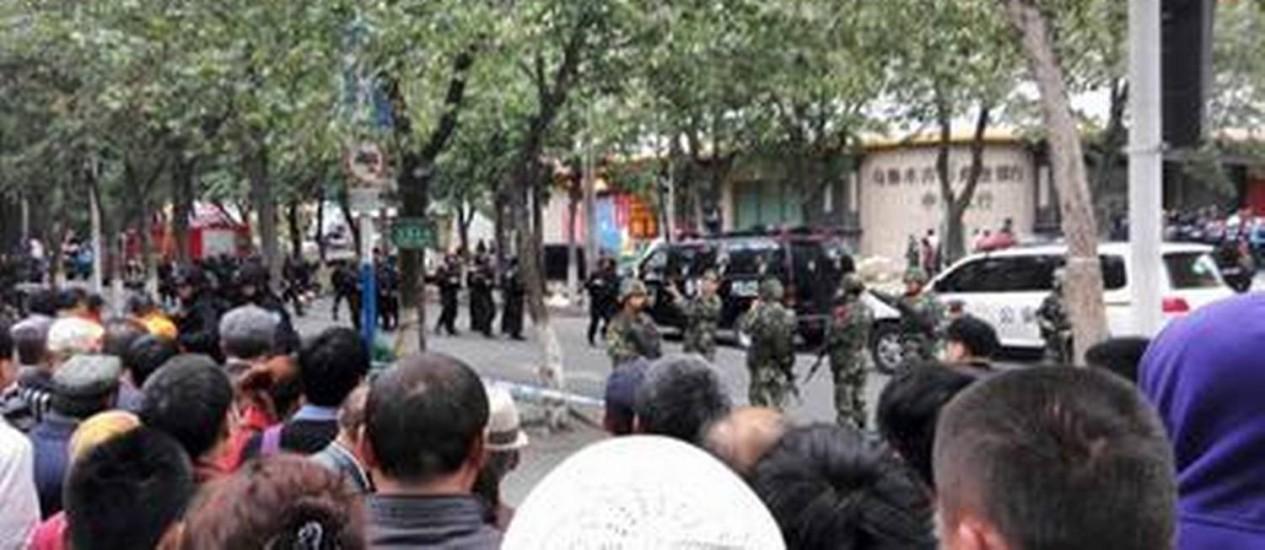 Atentado na região muçulmana da China deixa 31 mortos Foto: STRINGER/REUTERS