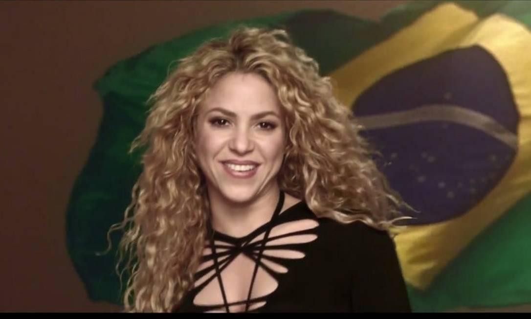 Shakira no clipe de 'La La La (Brazil 2014)' Foto: Reprodução