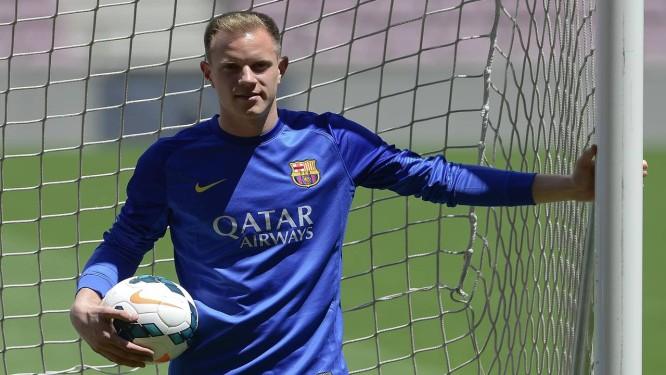 Ter Stegen é apresentado como novo goleiro do Barcelona Foto: Josep Lago / AFP