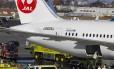 Boeing da Japan Airlines teve problema de incêndio devido ao superaquecimento da bateria de lítio, em janeiro do ano passado