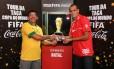 Ari Nunes e Rivaldo no Tour da Taça em Natal