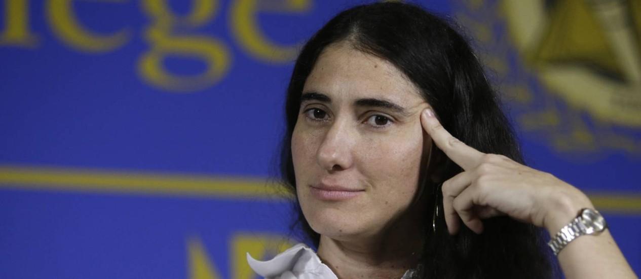 Yoani Sánchez. Bloqueio cubano ao diário digital da blogueira gerou críticas da Casa Branca e da Sociedade Interamericana de Imprensa Foto: Lynne Sladky / AP