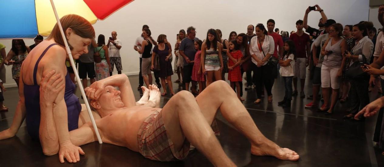 Fila para a exposição de Ron Mueck, no MAM Foto: Simone Marinho / Agência O Globo