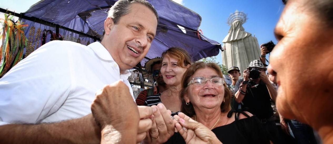 Campos visita o Santuário de Santa Rita de Cássia, em Santa Cruz (RN) Foto: Divulgação