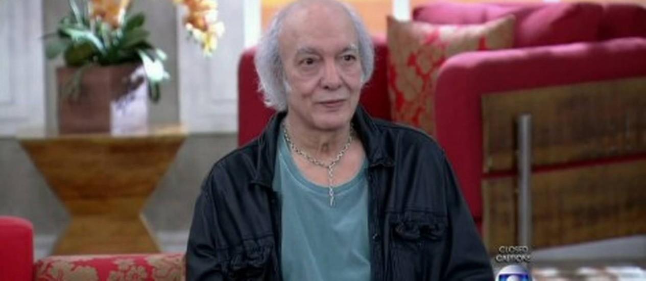Erasmo Carlos no programa de Fátima Bernardes Foto: Reprodução