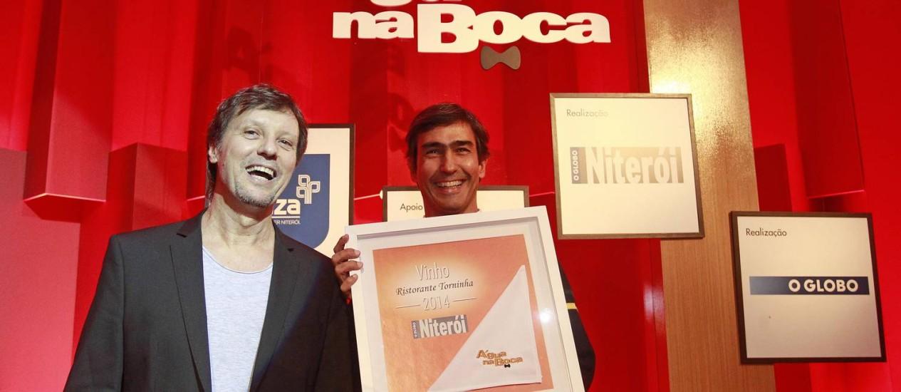 Campeões. Os sócios do Ristorante Torninha Federico Tagliabue e Alberto Duncan Foto: Márcio Alves / Márcio Alves