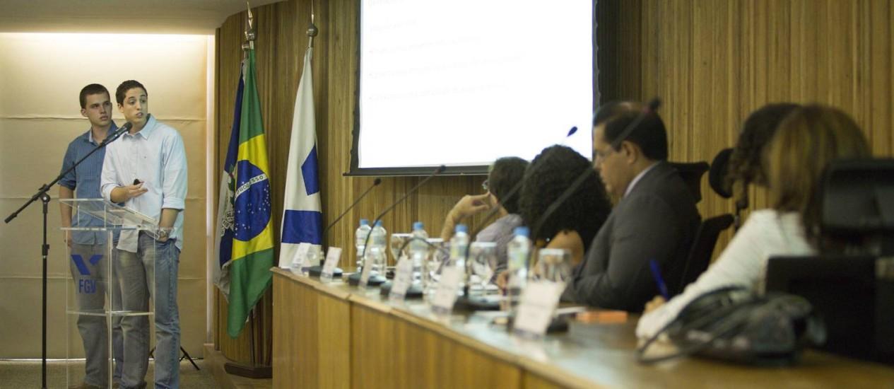 Apresentação dos finalistas do Prêmio Jovens Empreendedores, promovido pela Infoglobo com o apoio da Fundacao Getulio Vargas, na Praia de Botafogo Foto: Leo Martins