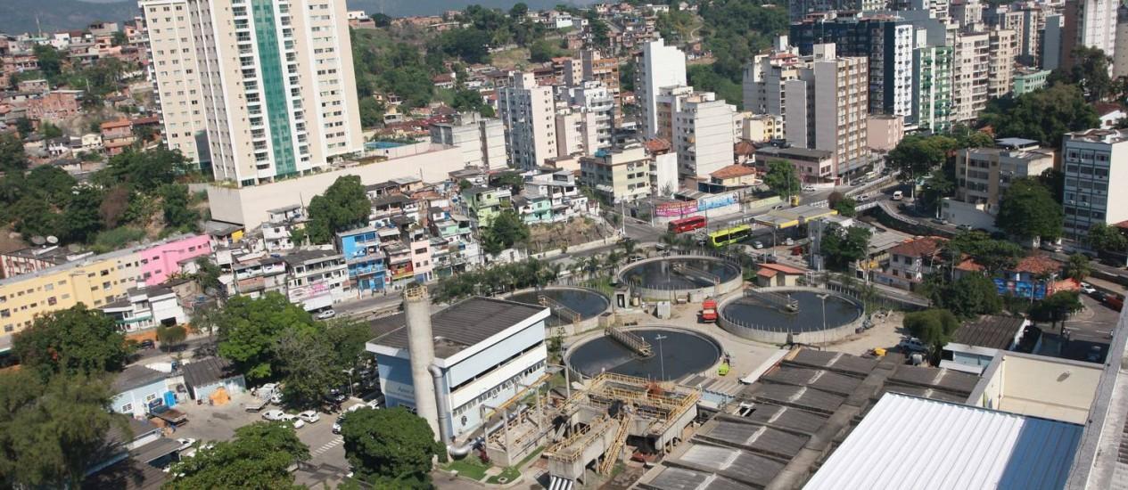 Vista aérea da Estação de Tratamento de Esgoto (ETE) de Icaraí Foto: Pedro Teixeira