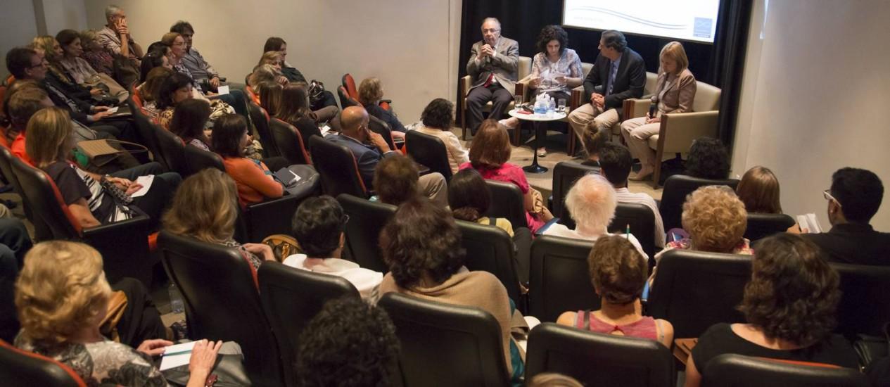 Debate sobre depressão na Casa do Saber O GLOBO Foto: Leo Martins