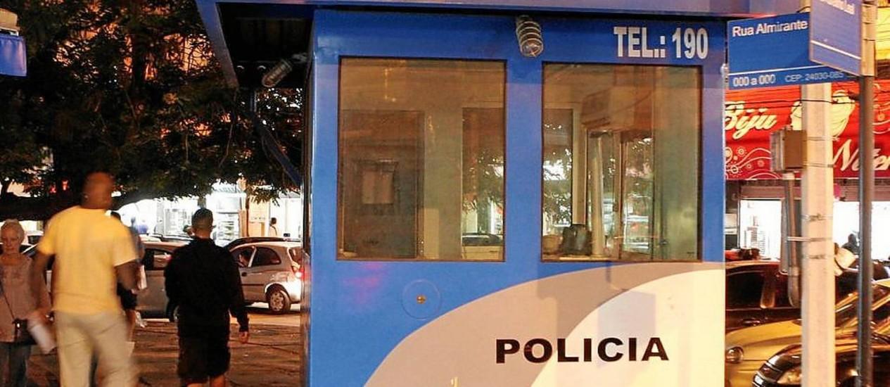 Vazia. Comerciantes aprovam desativação de cabine no Rink, em prol de policiamento ostensivo com viaturas Foto: Gustavo Stephan / Gustavo Stephan