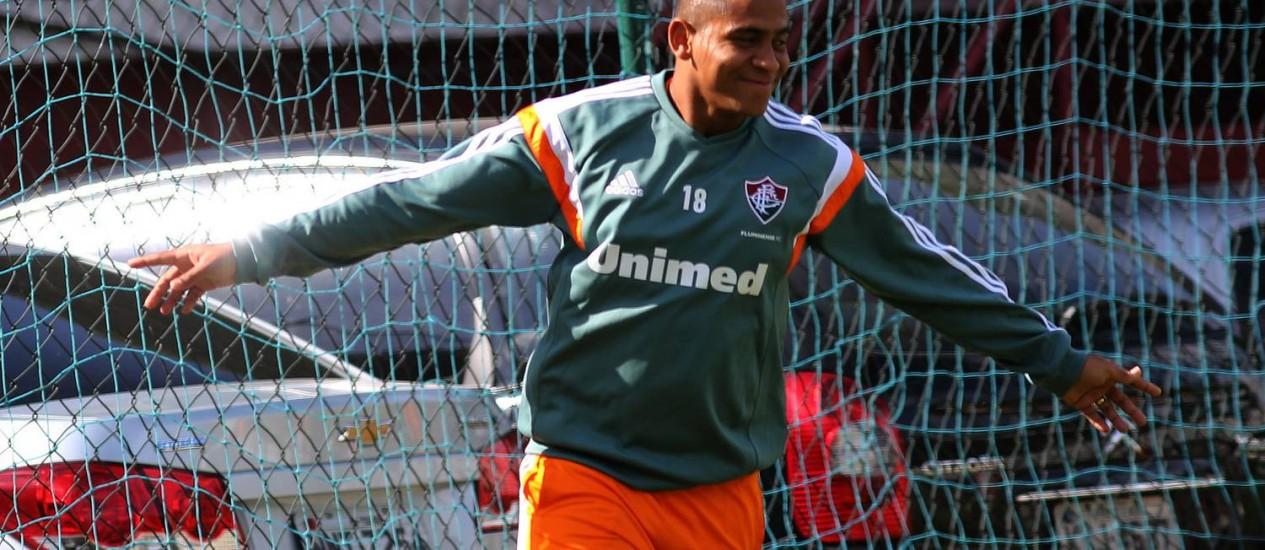 A descontração de Walter no treino do Fluminense Foto: Divulgação / Fluminense