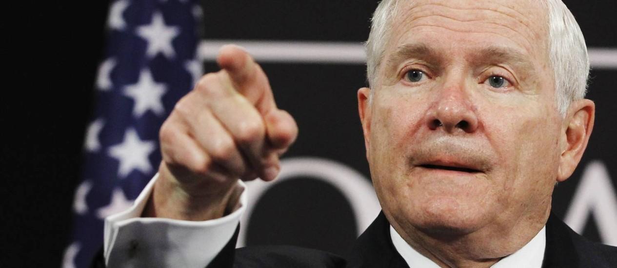 Robert Gates. Ex-secretário de Defesa assumiu o comando dos escoteiros dos Estados Unidos Foto: THIERRY ROGE / REUTERS
