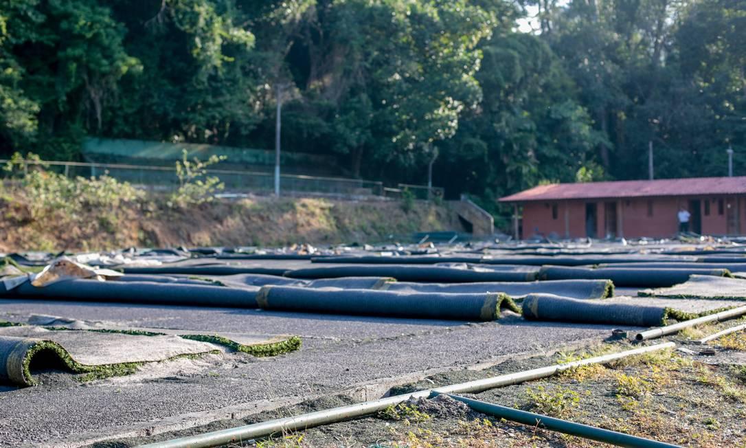 Retomada. Área de antigo clube foi reincorporada ao parque após decisão judicial Foto: Pedro Kirilos / Agência O Globo