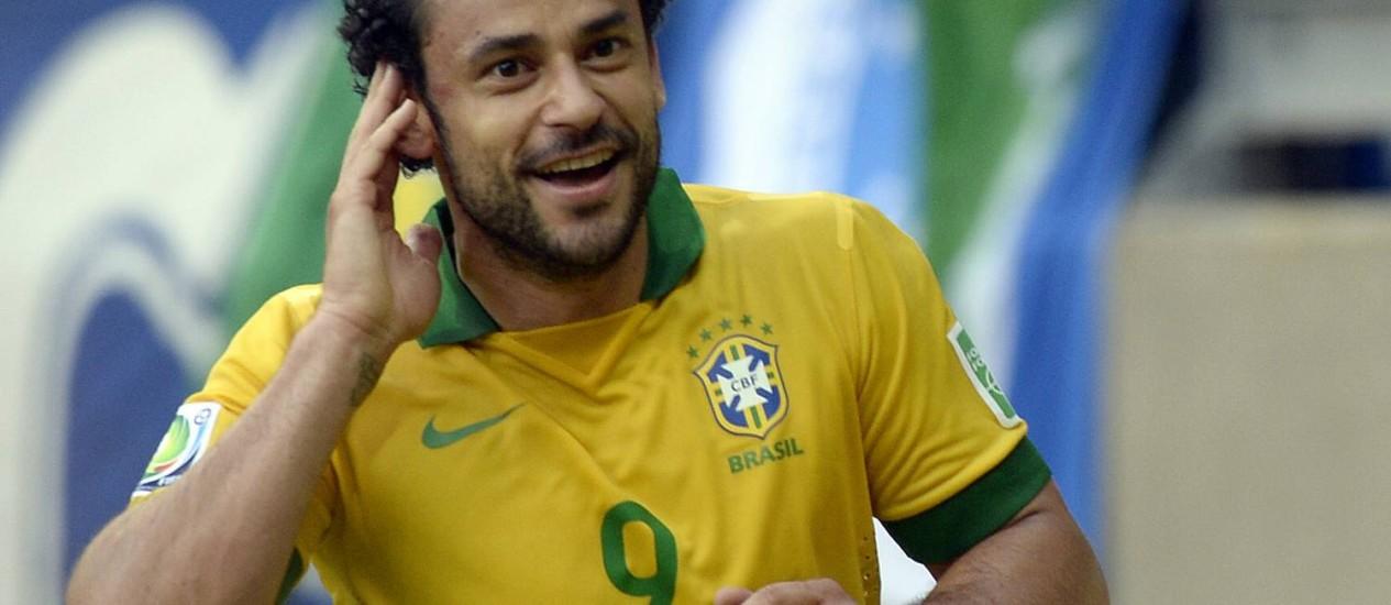 Fred, esperança de gol do Brasil na Copa do Mundo Foto: DANIEL GARCIA / Daniel Garcia/AFP/26-6-2013