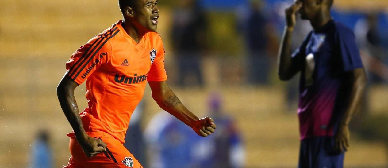 Kenedy marca para o Fluminense contra o Bahia em Barueri: gol logo no começo do jogo Foto: Mauro Horita / AGIF / Agência O Globo