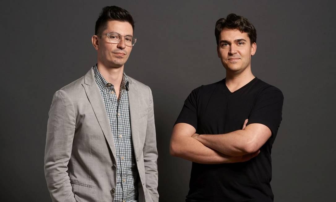 David e Chris, criadores do aplicativo Secret Foto: Peter Samuels petersamuels.com / / Foto Peter Samuels/Divulgação