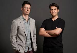 David e Chris, criadores do aplicativo Secret Foto: Peter Samuels / Divulgação