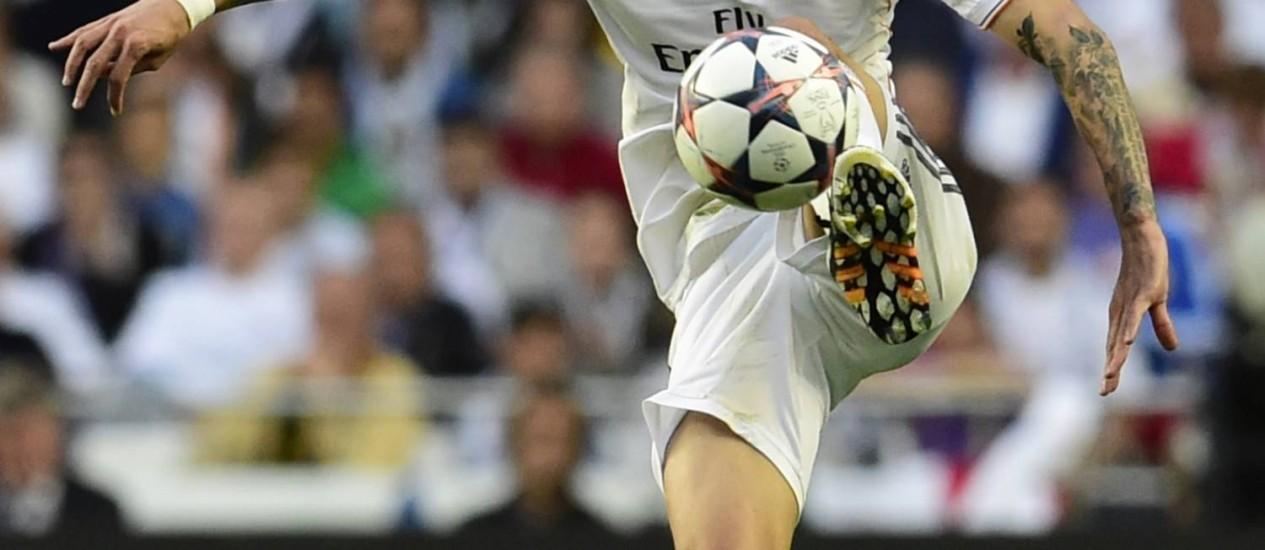 O argentino Di María, do Real Madrid, foi eleito o melhor jogador da decisão da Liga dos Campeões da Europa Foto: JAVIER SORIANO / AFP