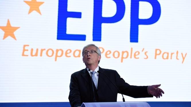 Jean-Claude Juncker. Partido do Povo Europeu obteve o maior número de cadeiras, mas candidato não deve conquistar presidência da Comissão Europeia Foto: JOHN THYS / AFP