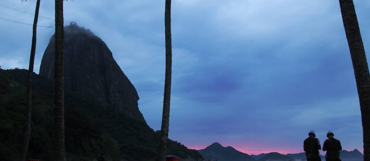 Parte do Pão de Açúca visto da Praia Vermelha Foto: Fernando Quevedo / Agência O Globo