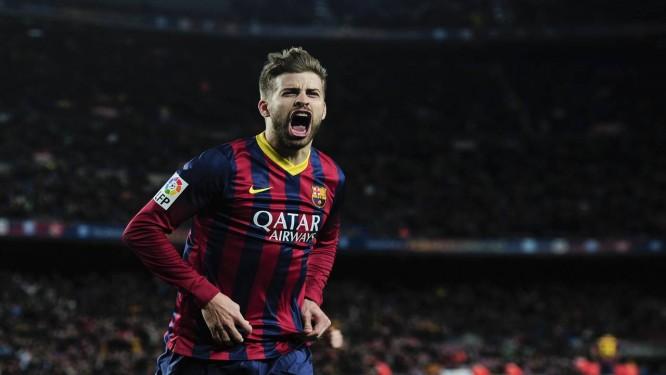Piqué renovou com o Barcelona até junho de 2019 Foto: Josep Lago / AFP