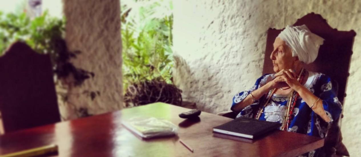 A mãe de santo francesa Gisele Cossard vive em Nova Iguaçu Foto: Divulgação