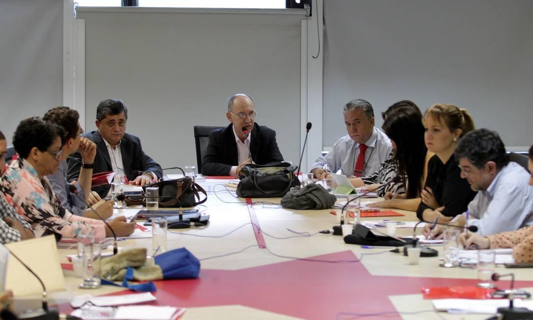 Reunião da Executiva Nacional do Partido dos Trabalhadores, nesta segunda-feira Foto: Ailton de Freitas / O Globo