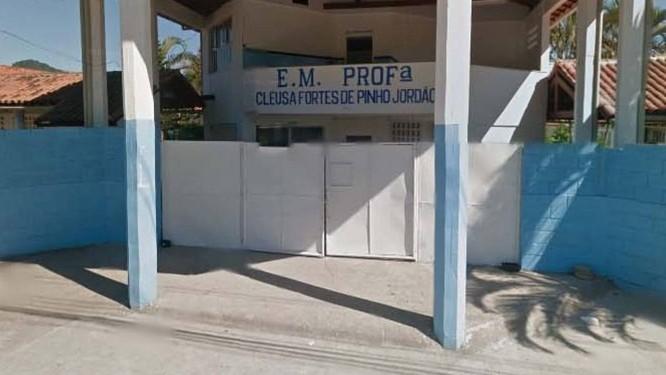 Fachada da Escola Cleusa Fortes de Pinho Jordão: aluno é acusado de envenenar água Foto: Reprodução / Google Street View