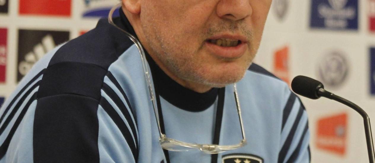Alejandro Sabella, treinador da Argentina Foto: Martin Mejia/AP/10-09-2012