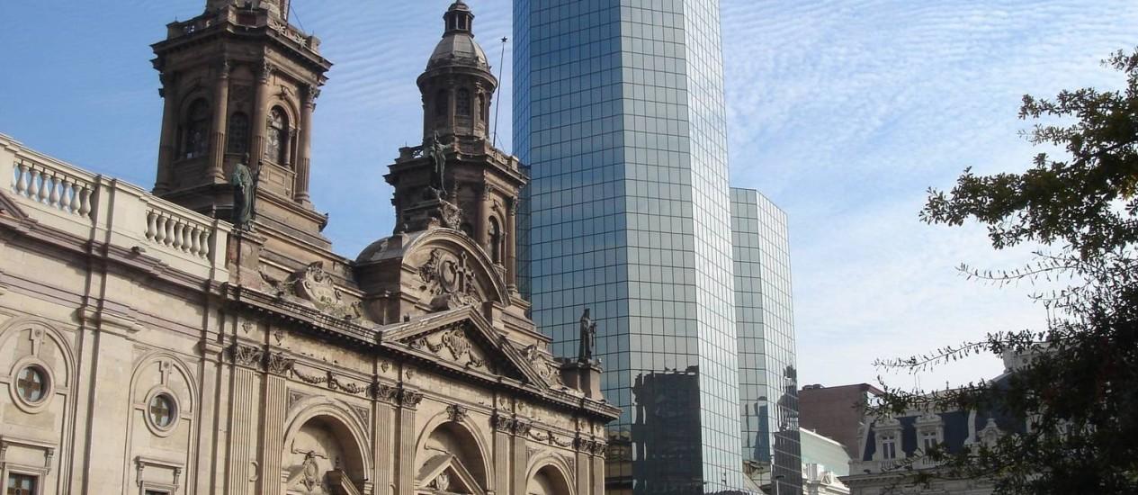 O Centro de Santiago Foto: Laura Antunes / O Globo