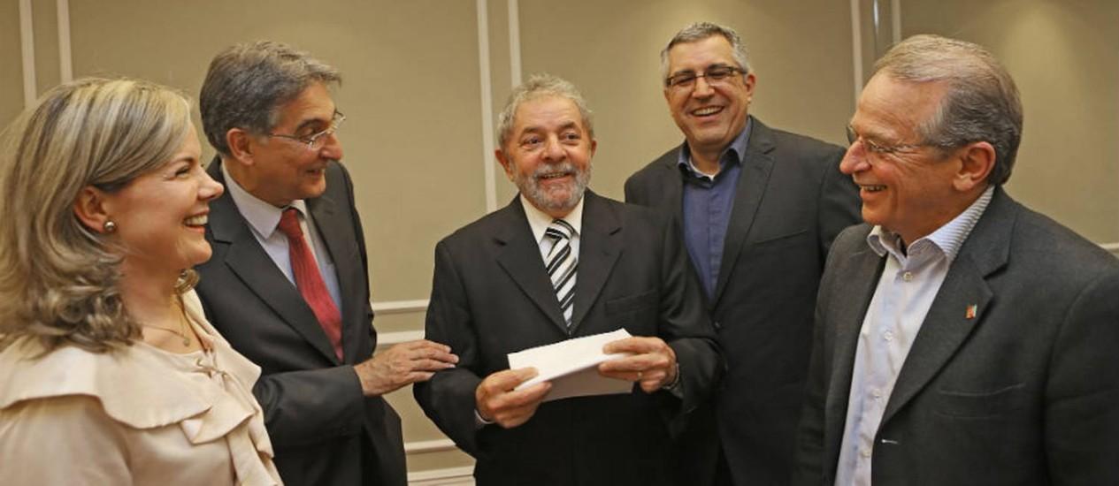 Lula esteve reunido nesta tarde com quatro candidatos a governador pelo PT Foto: Ricardo Stuckert / Instituto Lula
