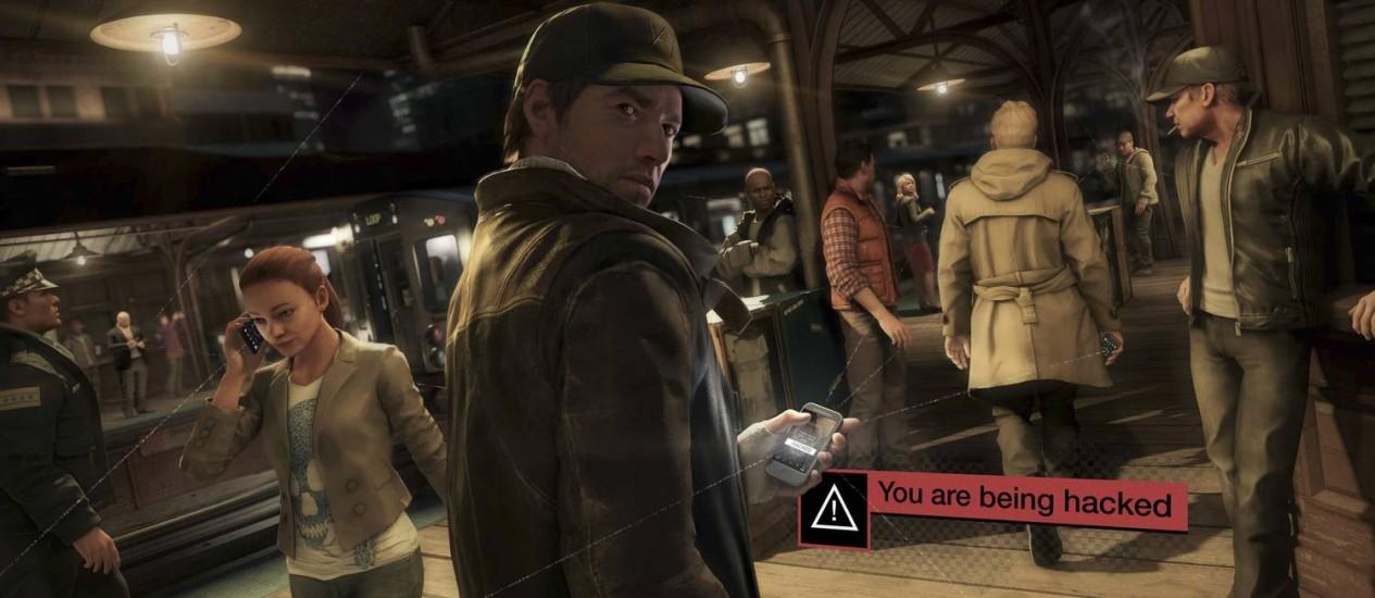 """Em """"Watch dogs"""", da Ubisoft, o jogador assume o papel de um vingativo hacker Foto: REPRODUÇÃO"""