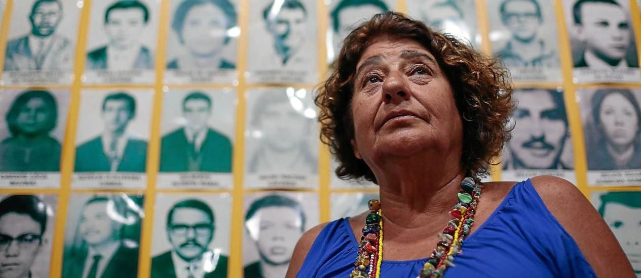 Cecília Coimbra, que foi presa e torturada ao longo de três anos e meio na ditadura, critica a ideia de suprimir as más lembranças Foto: Pedro Kirilos