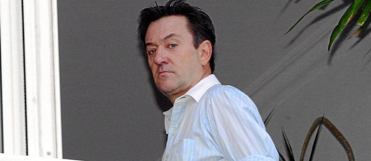 Frankie Mackey no apartamento do Arpoador Foto: Hipólito Pereira / Agência o Globo (24/05/2005)