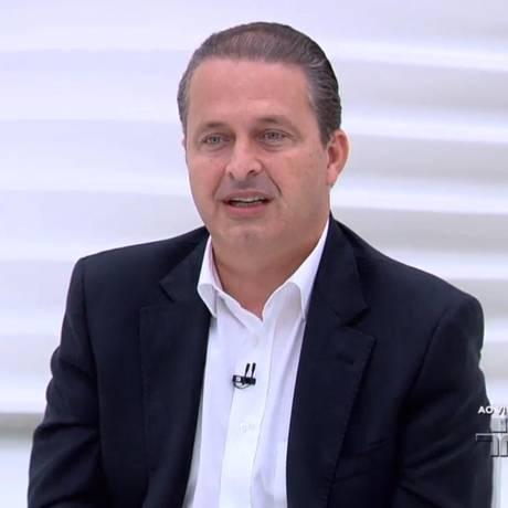 O ex-governador Eduardo Campos, pré-candidato do PSB à PresidÊncia, participa do programa Roda Viva