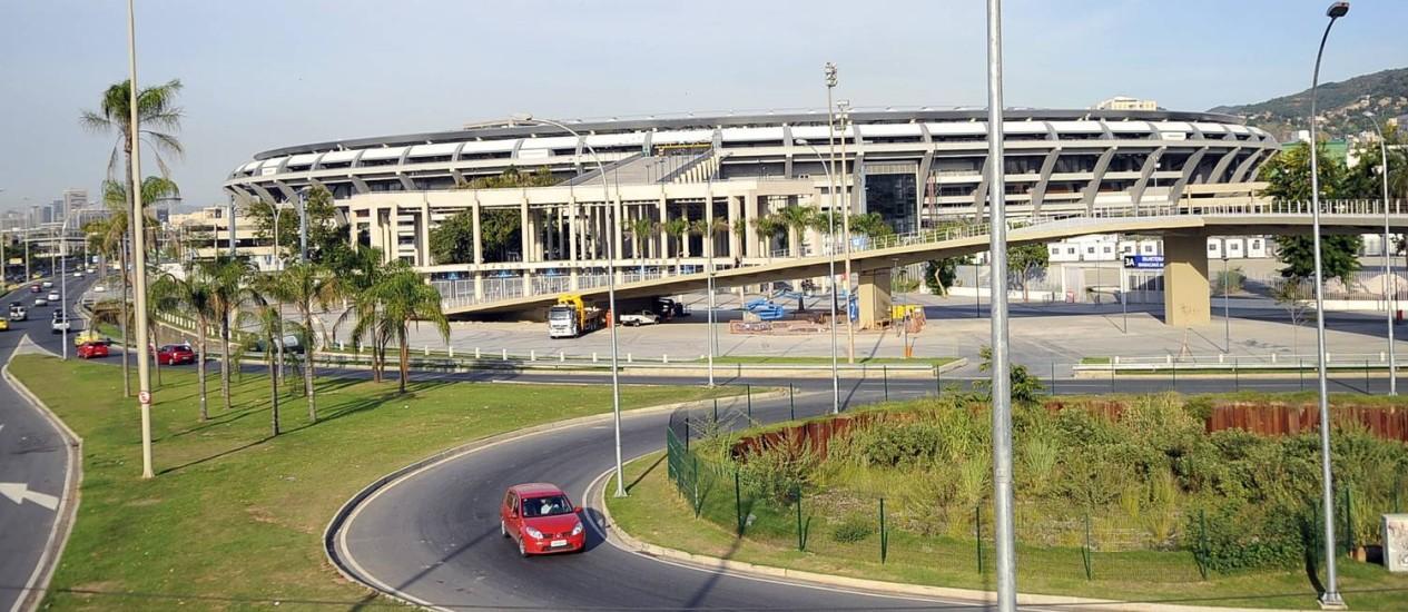 Entorno do Maracanã: estádio é palco da final da Copa do Mundo Foto: Luiz Roberto Lima/Extra / Agência O Globo