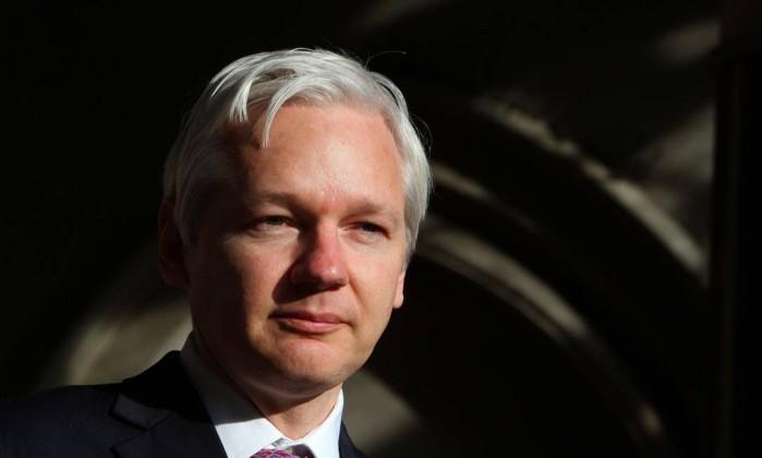 Julian Assange. Dois anos de confinamento Foto: GEOFF CADDICK / AFP