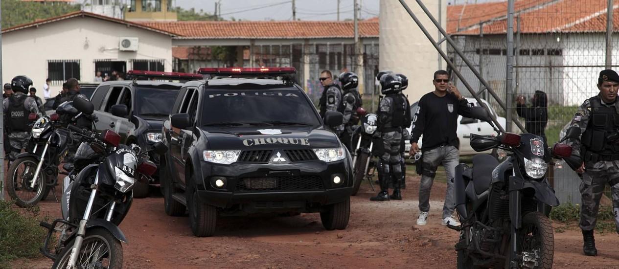 Em janeiro, presos foram transferidos de Pedrinhas para presídio em Campo Grande Foto: Reuters / Divulgação