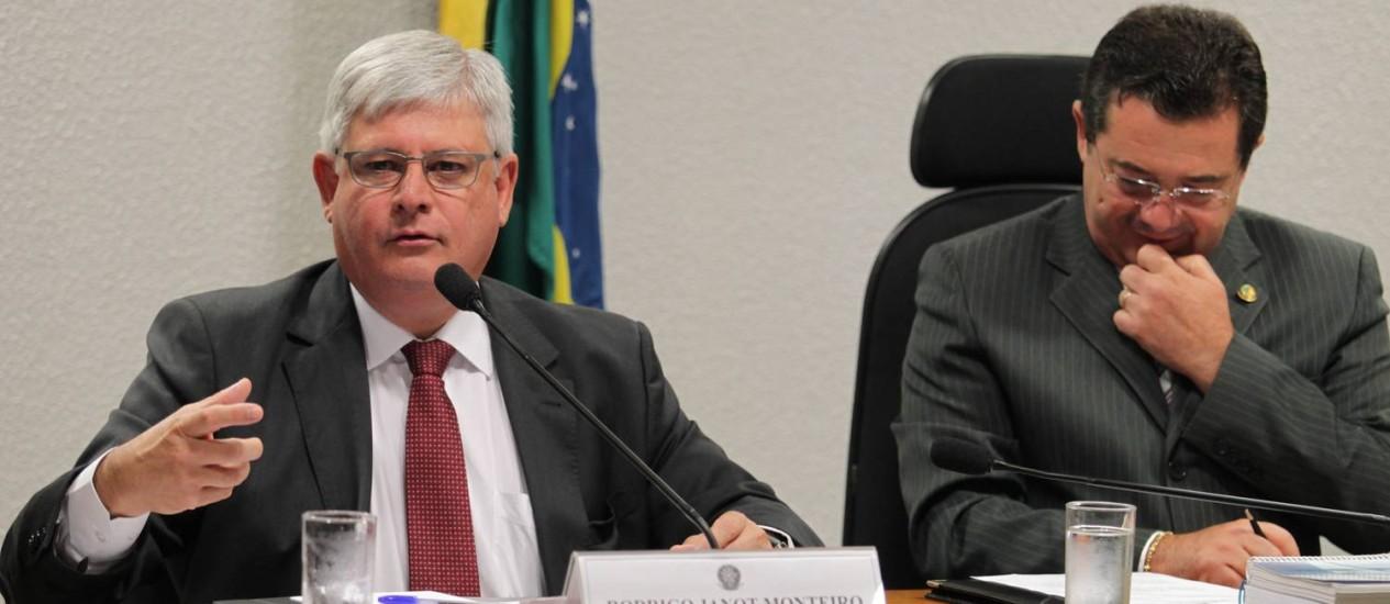"""Rodrigo Janot: """"não houve censura nenhuma"""" contra informações de operação da PF. Foto: Ailton de Freitas / O Globo"""